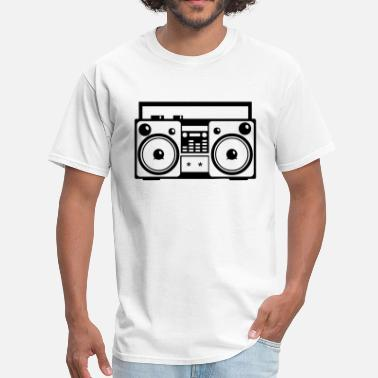 Audio System Stereo Music Boombox Old School 1c - Men's T-Shirt