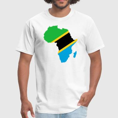 Tanzania Flag In Africa Map - Men's T-Shirt