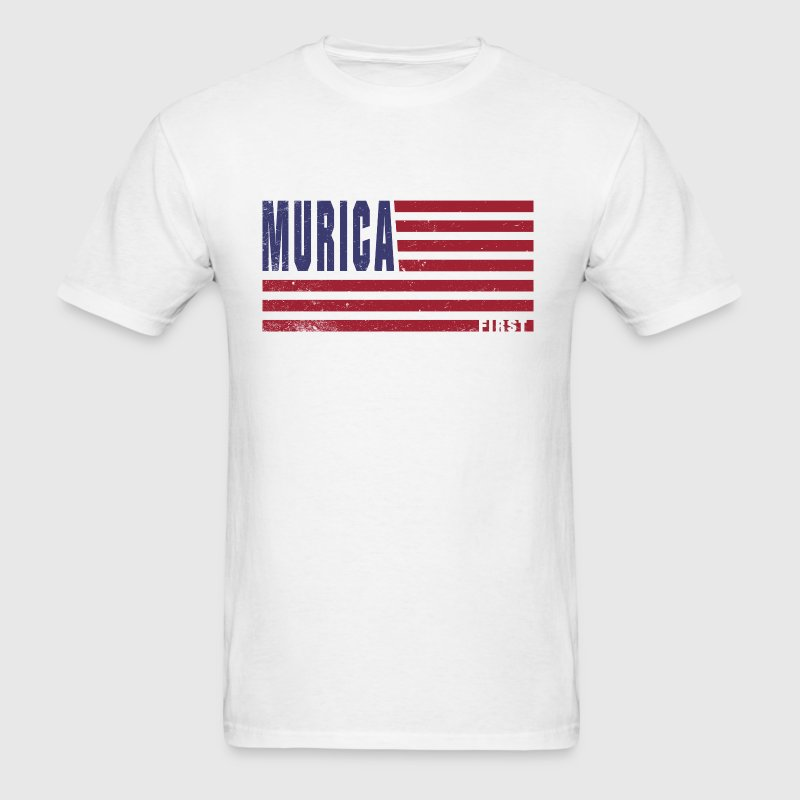4th Of July Gift Murica First - Men's T-Shirt