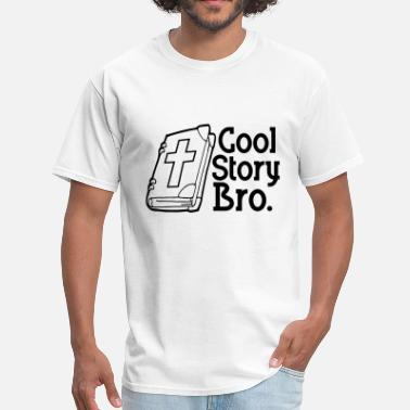 Evolution Jesus Cross Cool Story Bro - Bible Version - Men's T-Shirt