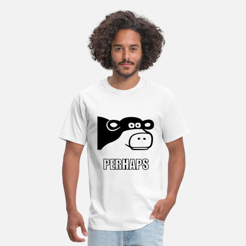 Perhaps Cow Meme Men's T-Shirt   Spreadshirt
