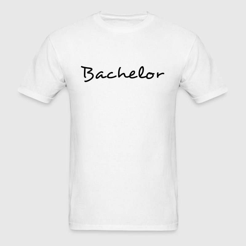 Fun Bachelor Text Word Graphic Design for Bachelor Parties, Hen Party, Stag and Does, Bridal Party and Wedding Showers Men TShirts - Men's T-Shirt