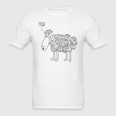 crazy sheep - Men's T-Shirt