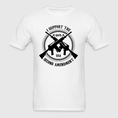 I Support The Second Amendment - Men's T-Shirt