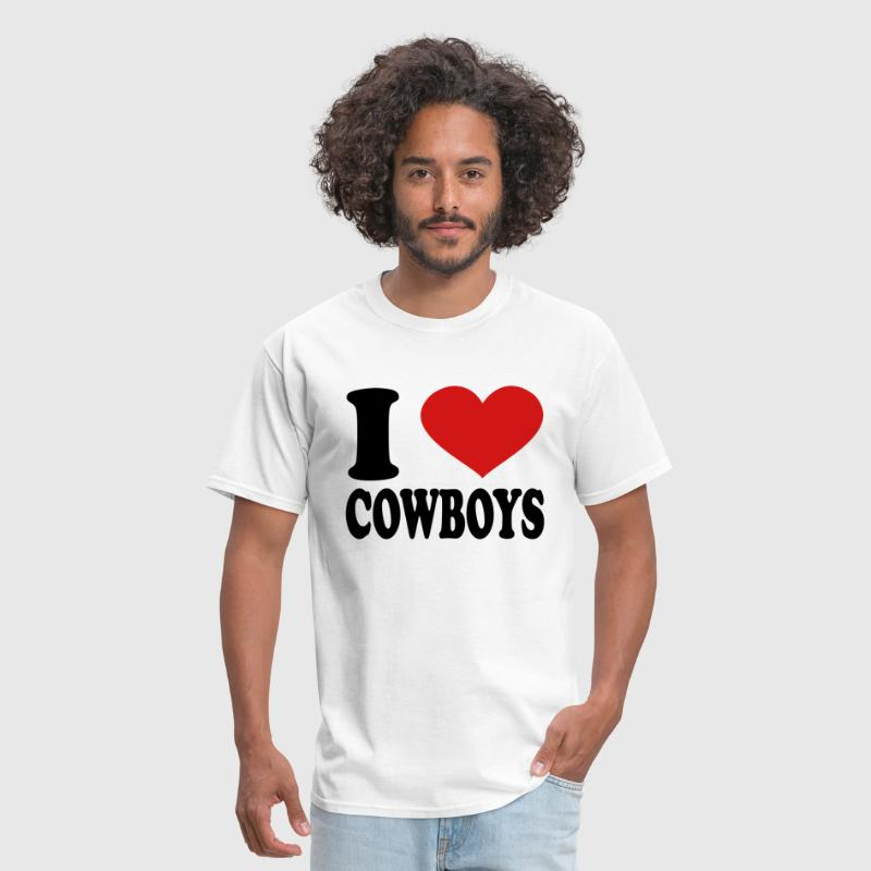 I Love Cowboys - Men's T-Shirt