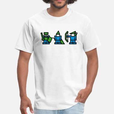 8bit Characters Knight, Wizard, Archer - 8Bit RPG Characters - Men's T-Shirt