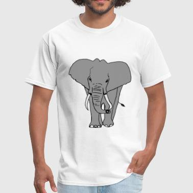Elephant (Cartoon) - Men's T-Shirt