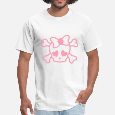 Cute Skull Skull Girl - Men's T-Shirt