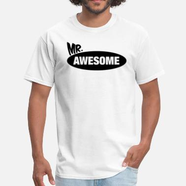 Mrs Awesome Mr. Awesome & Mrs. Awesome Couples Design - Men's T-Shirt