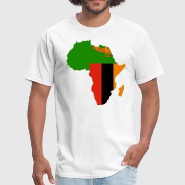 Zambia Flag In Africa Map - Men's T-Shirt