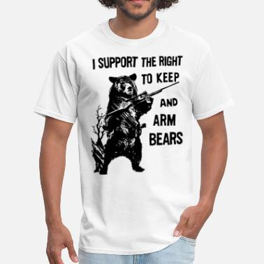 Mickey Mouse Hands Amendment Support the Right To Arm Bears Funny Hun - Men's T-Shirt