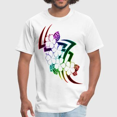 tribal hawaiian flower design - Men's T-Shirt