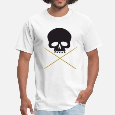 Skull Drums Skull with Drum Sticks - Men's T-Shirt