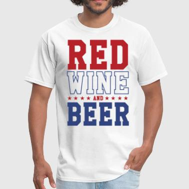 Miguel Fourth of July Red Wine and Beer Slouchy Tee of Ju - Men's T-Shirt