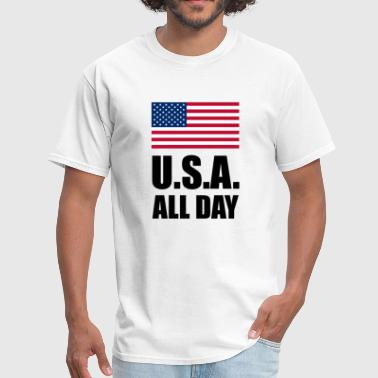 USA All Day Patriotic - Men's T-Shirt