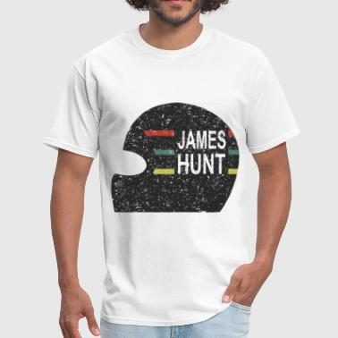 James Hunt Helmet Tee by Hunziker hunt - Men's T-Shirt