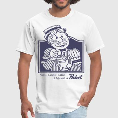 Pabst Blue Ribbon Pabst Blue Ribbon Beer Shirt Vintage Look And Feel - Men's T-Shirt