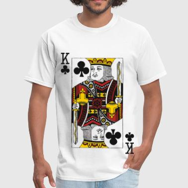Playing Cards King of Clubs - Men's T-Shirt