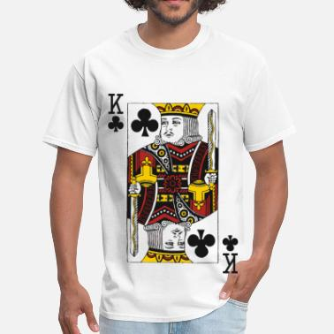 Playing King of Clubs - Men's T-Shirt