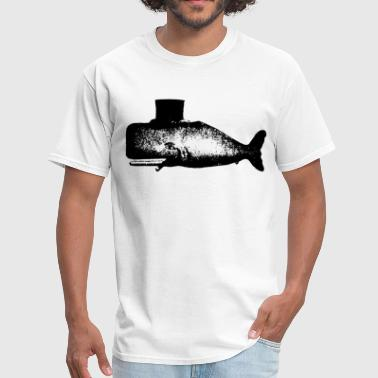 Men s Whale Tophat Cigar Tattoo American Apparel N - Men's T-Shirt