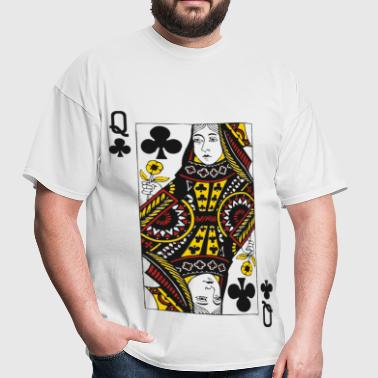 Queen of Clubs - Men's T-Shirt