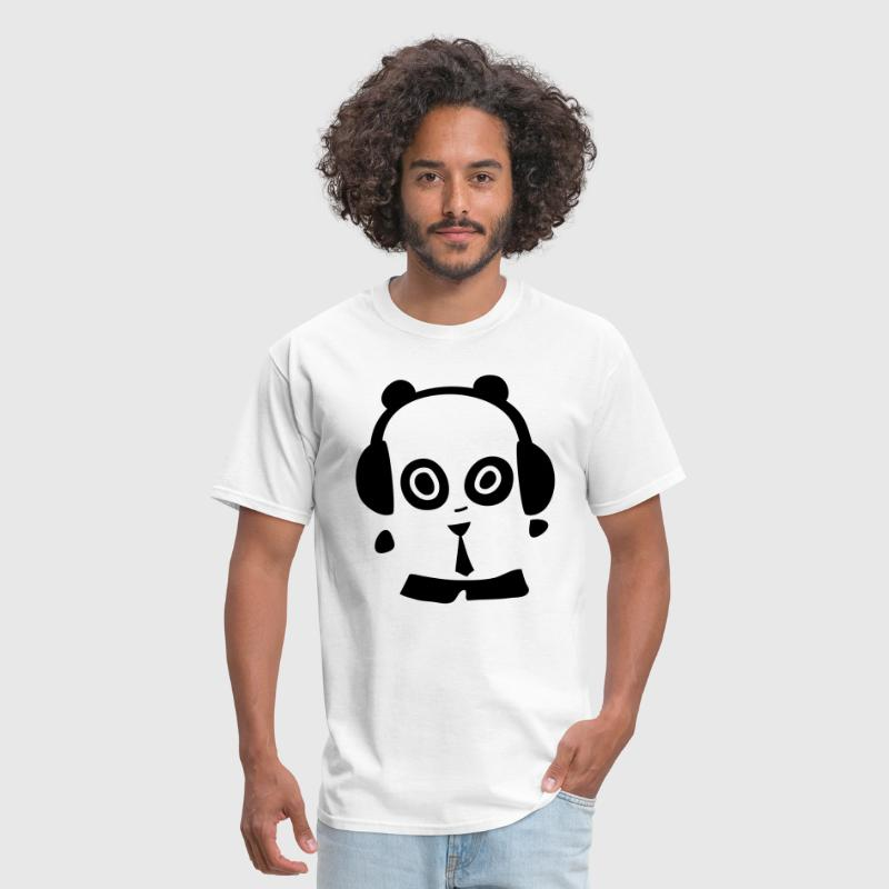 Headphones Panda - Men's T-Shirt