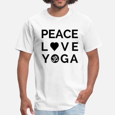 Mantra Quotes Peace Love Yoga Mantra Yoga Quote Gift - Men's T-Shirt