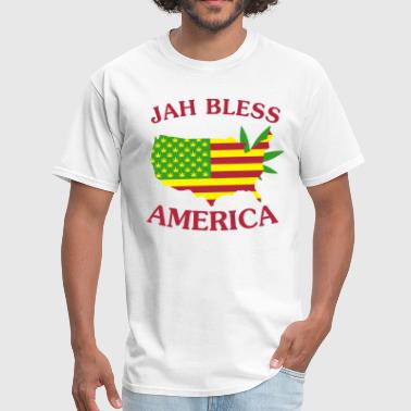 Jah Bless America Map - Men's T-Shirt