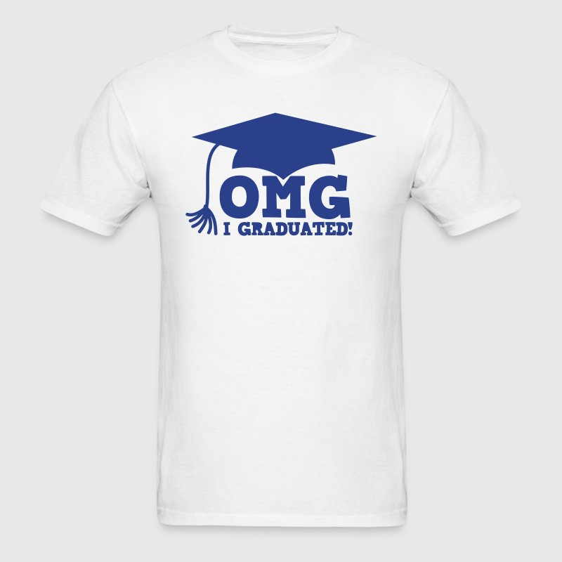 OMG I GRADUATED! with mortar board hat - Men's T-Shirt