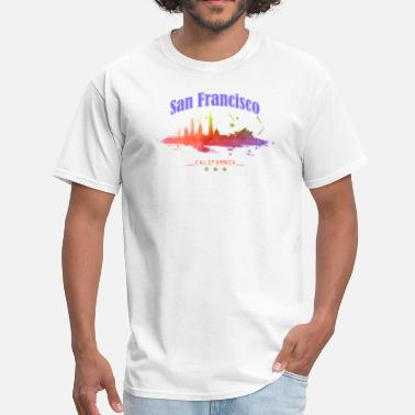 Bay Area California San Francisco SF Bay Area California Skyline - Men's T-Shirt