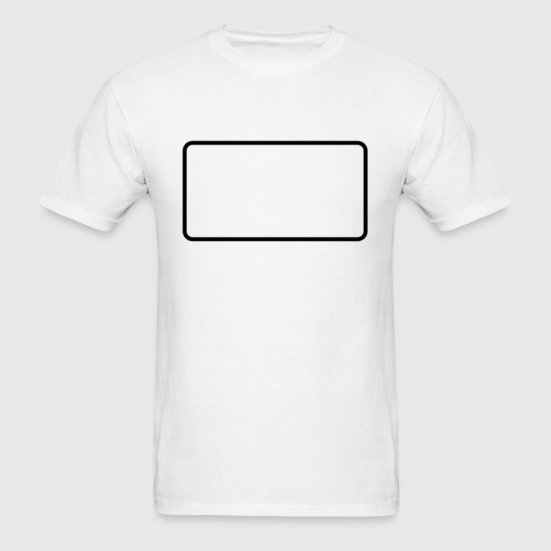 Rounded blank sign shape - Men's T-Shirt