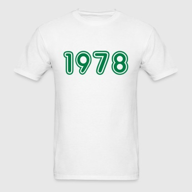 1978, Numbers, Year, Year Of Birth - Men's T-Shirt