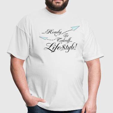 Simple Ready For Takeoff Lifestyle - Men's T-Shirt