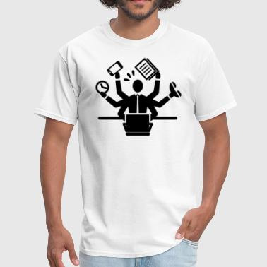 Busy Business Man Working - Men's T-Shirt