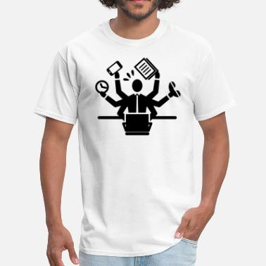 Busy Working Busy Business Man Working - Men's T-Shirt