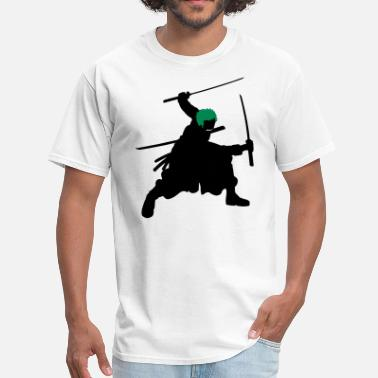 4xl Pirate Zoro Swords Silhouette - Men's T-Shirt