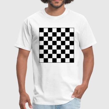 Checker Chess Board Chess Board Checkers 1c - Men's T-Shirt