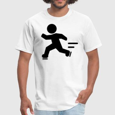 Stickfigure Quotes Skating Stickfigure Man - Men's T-Shirt