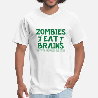 Zombies Eat Brains ZOMBIES EAT BRAINS - Men's T-Shirt