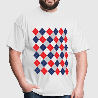 Argyle curling pattern - Men's T-Shirt