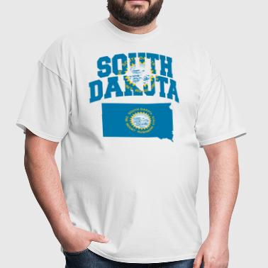 South Dakota Flag Map - Men's T-Shirt