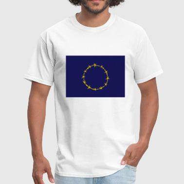 Barbed European Union Flag - Men's T-Shirt