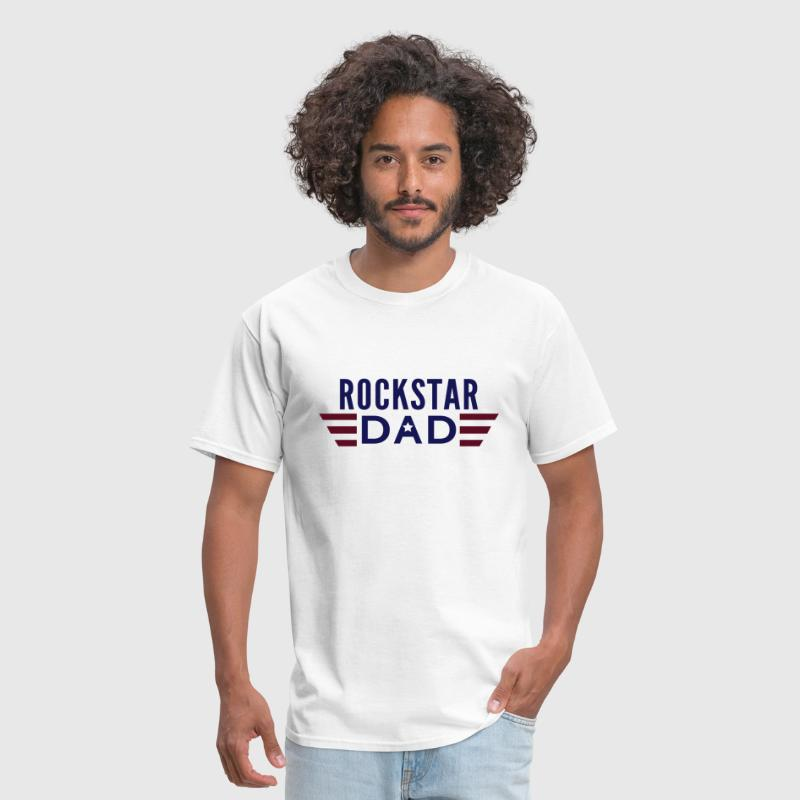 rockstar dad 2 colours with wings - Men's T-Shirt
