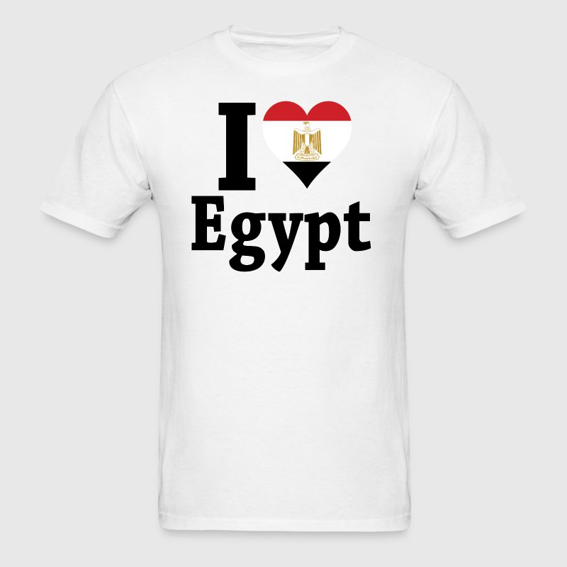 I Love Egypt Flag - Men's T-Shirt
