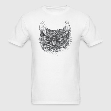 Owl Drawing - Men's T-Shirt