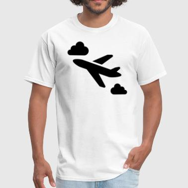 Flying Airplane Silhouette - Men's T-Shirt
