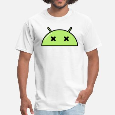Dead-face Dead Alien Face Emoticon - Men's T-Shirt