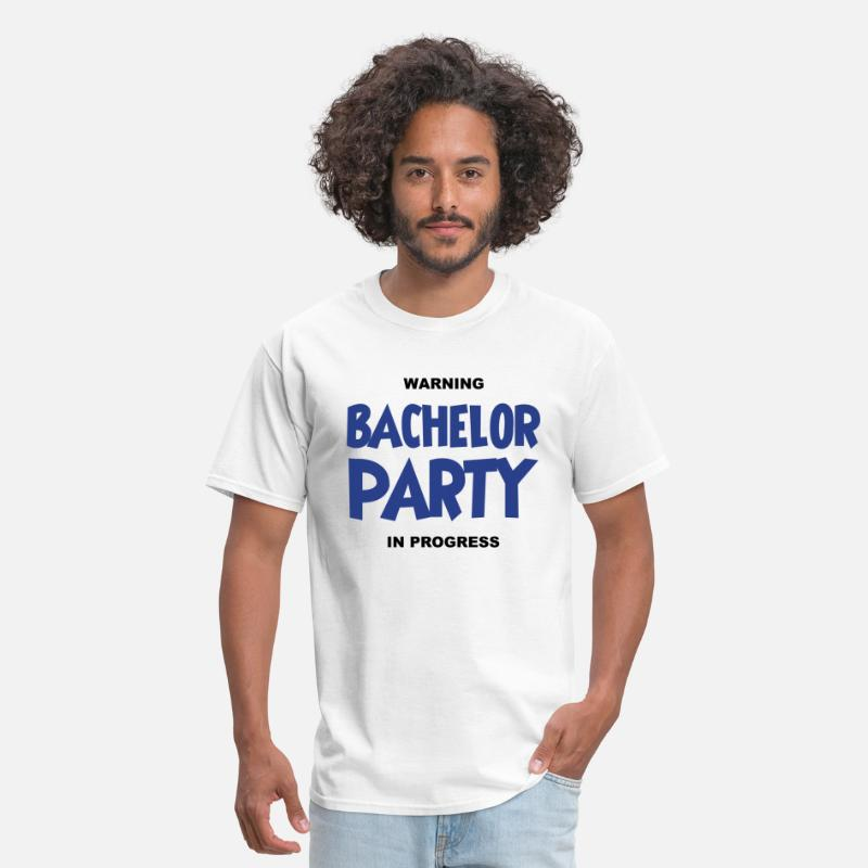 Alcohol T-Shirts - Warning bachelor party in progress - Men's T-Shirt white
