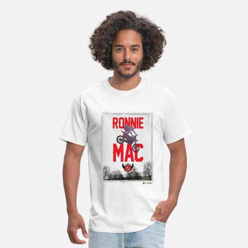 Dirt T-Shirts - Ronnie Mac Graphic - Men's T-Shirt white