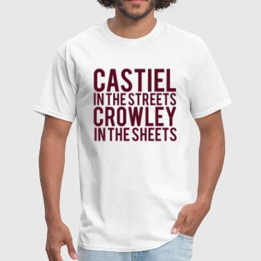 Castiel Supernatural SUPERNATURAL CASTIEL In The Streets CROWLEY... - Men's T-Shirt